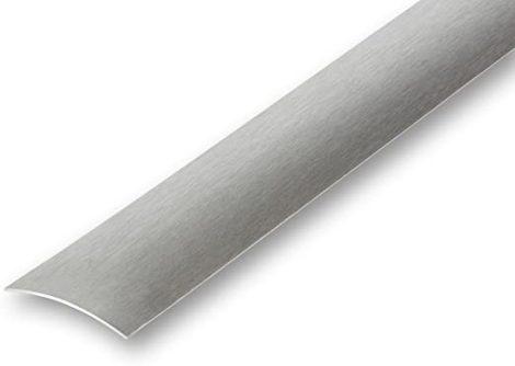AV Rozsdamentes burkolatváltó profil inox selyemfényű 40 mm 270 cm öntapadós szintkülönbség kiegyenl