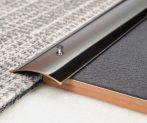 AV Rozsdamentes burkolatváltó profil inox polírozott szintkülönbség kiegyenlítő 40 mm 90 cm lecsavar