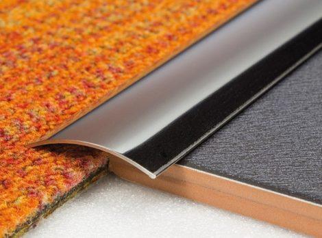 AV Rozsdamentes burkolatváltó profil inox polírozott 40 mm 90 cm öntapadós szintkülönbség kiegyenlít
