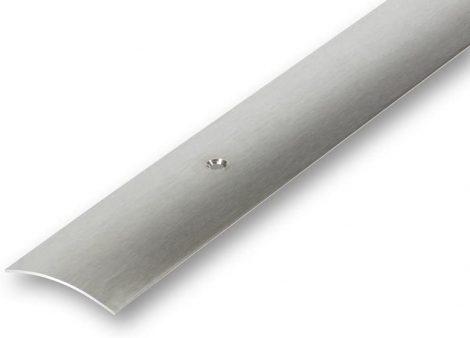 AV Rozsdamentes burkolatváltó profil inox szálcsiszolt 40 mm 90 cm lecsavarozható selyemfényű szintk