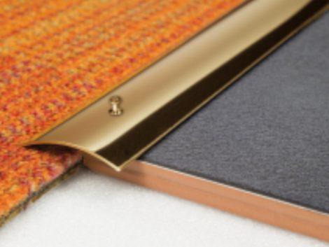 AV Réz burkolatváltó profil valódi sárgaréz szintkülönbség kiegyenlítő 30 mm 90 cm lecsavarozható
