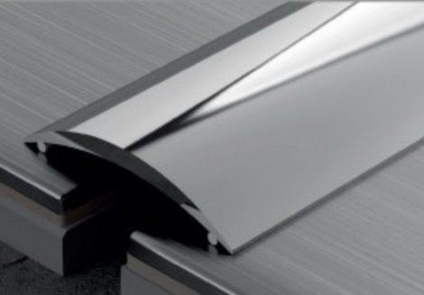 Burkolatváltó profil ajtó küszöb helyett Inox rozsdamentes 0-6 mm 30 mm széles 270 cm