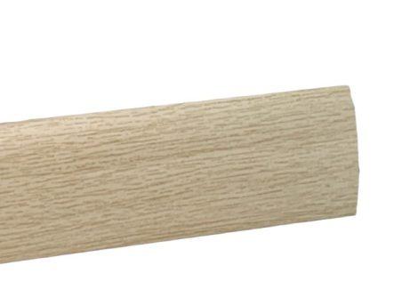 Szintkiegyenlítő profil ajtó küszöb helyett Fehérített fa 0-12 mm 40 mm széles 270 cm szintkülönbség