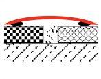 Küszöbtakaró profil nagy 0-60 mm résre ezüst 0-12 mm 80 mm széles 200 cm küszöbáthidaló burkolatvált