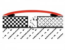 Küszöbtakaró profil nagy résre ezüst 0-12 mm 80 mm széles 200 cm küszöbáthidaló burkolatváltó