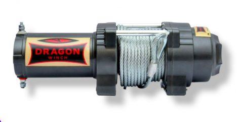12V 2041 kg ATV, quad elektromos csörlő, vezeték nélküli távirányítóval, drótkötéllel acél kampóval,