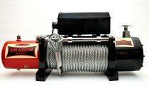 12V 12000 lb/ 5443 kg elektromos csörlő drótkötéllel, vezeték nélküli távirányítóval, MAGAS MINŐSÉG