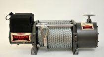 24V 15000 lb/ 6803 kg nagy teherbírású, elektromos csörlő, vezeték nélküli távirányítóval, szintetik