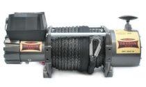 24V 18000 lb/ 8165 kg nagy teherbírású, elektromos csörlő, vezeték nélküli távirányítóval, szintetik