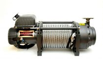 24V 22000 lb/ 9979 kg nagy teherbírású, elektromos csörlő, vezeték nélküli távirányítóval, drótkötél