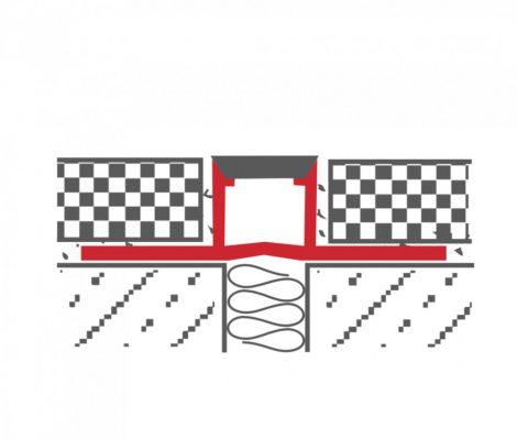 Dilatációs burkolatváltó profil 8-10-12-15 mm magas 9 mm széles bézs vagy szürke PVC