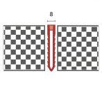 Utólag is lerakható dilatációs profil 8 mm széles burkolás után is 48 mm magas szürke színű