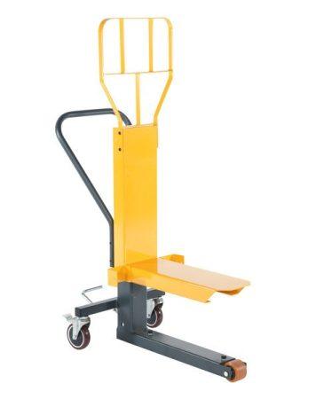 Display emelő, bemutató állvány mozgató hidraulikus kézikocsi 250 kg teherbírás, mechanikus emelés R