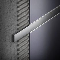 Díszítő profil rozsdamentes polírozott díszprofil inox 20x6x2500 díszcsík burkolatba építhető bordűr