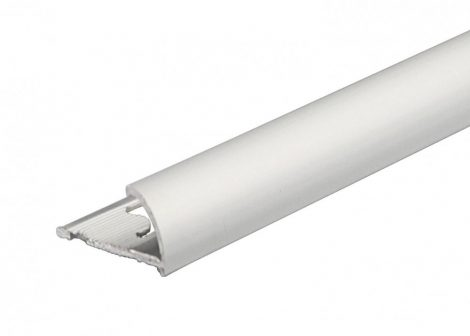 Negyed köríves domború fém csempeszegély élvédő eloxált alumínium 10 mm