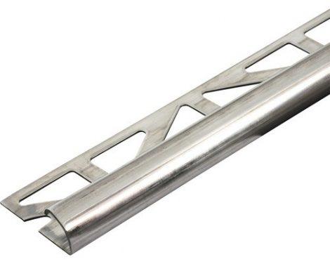 Negyed köríves csempe alumínium élvédő, válaszható körívű méretben