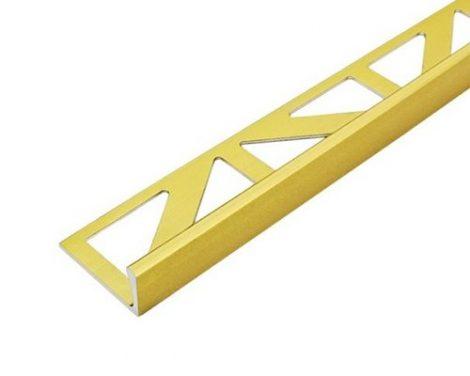 L alakú alumínium csempeszegély élvédő, válaszható méretben 8-10-12-15 mm-es profil