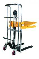 Hidraulikus kézi magasemelő 400 kg 850 mm felhajtható emelőlappal és villával, emelőasztal
