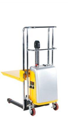 Elektromos hidraulikus kézi magasemelő 400 kg teherbírással 1500 mm felhajtható emelőlappal