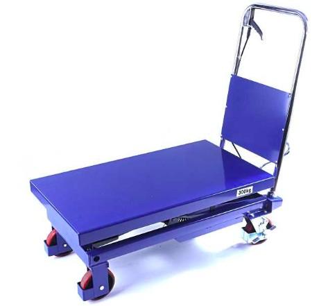 Emelőasztal 300 kg emelési magasság 340–900 mm Kézi szállító és hidraulikus emelő kocsi, ollósemelő