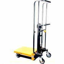 Kézi hidraulikus emelőasztal 400 kg teherbrással, 1500 mm emelési magassággal