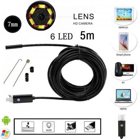 Endoszkop kamera 5m kabel Androidos is