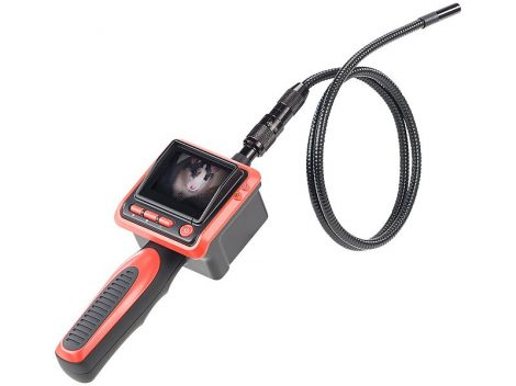 Digitális endoszkóp színes LCD monitoral csőkamera, endoszkóp kamera kijelzővel 1m kábel vízálló