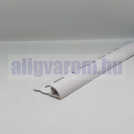 Negyed köríves csempe élvédő, záró éllel, válaszható körívű méretben, PVC profil