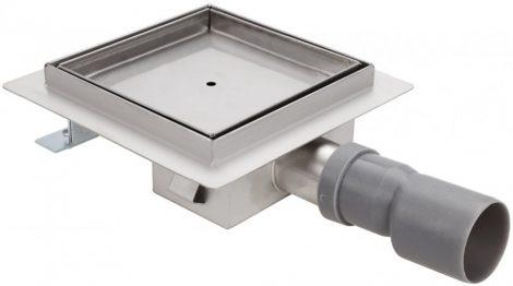 Szögletes burkolható rozsdamentes zuhanyfolyóka 200x200 mm