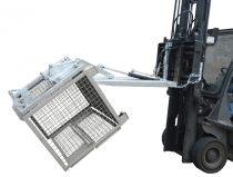 Gitterbox ürítő targonca adapter -  GiBo kiöntő - hidraulikus ürítés - DIN 15155 konténer számára