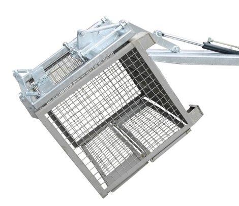 Gitterbox ürítő targonca adapter - GiBo kiöntő - huzalos ürítés,   gázrugós csillapítás - DIN 15155
