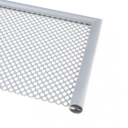 Lemez rács keretező kerek gömb profil 1,7 mm vastag lemezhez kezeletlen acél lemez keret 3000 mm