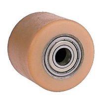 Ø 75 mm urethan raklapemelő görgő Átmérő 75 mm  Szélessége: 65 mm. Tengely: 17, 20, 25 mm