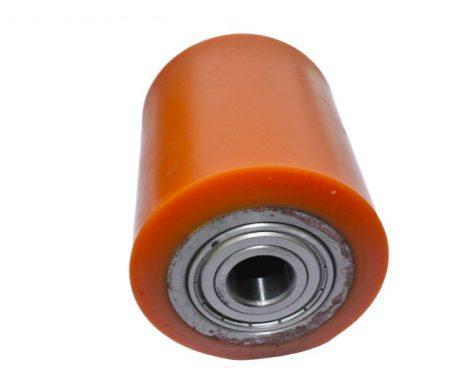 Ø 80 mm görgő raklapemelő, raklapmozgató uretán átmérő 80 mm  Szélessége: 90 mm
