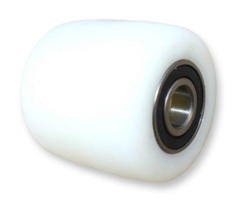 Ø 82 mm raklapemelő, raklapmozgató görgő poliamid  Szélesség: 80 mm Tengely átmérő: 17, 20, 25 mm