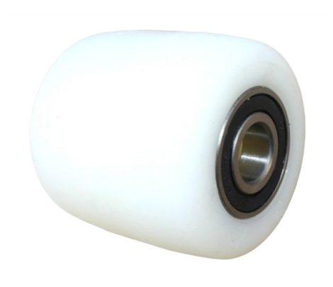 Ø 82 mm raklapemelő, raklapmozgató görgő poliamid  Szélesség: 90 mm Tengely átmérő: 17, 20, 25 mm