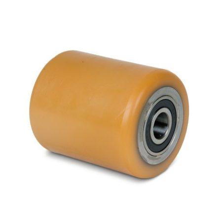 BT Ø 85x100 mm villagörgő raklapemelő, raklapmozgató uretán poliuretán  Átmérő: 85 mm  Szélesség: 10