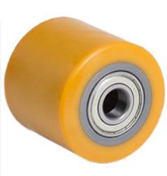 Ø 85x82 mm villagörgő raklapemelő raklapmozgató uretán ø 85 mmx80  Tengely: 17 mm Linde 0009933902 S