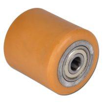 Linde T20 Ø 85x105 mm villagörgő raklapemelő, raklapmozgató uretán poliuretán  Átmérő: 85 mm  Széles