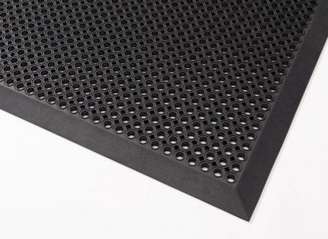 Gumi lábtörlő peremes gumiszőnyeg 90x150 botlásgátló szegéllyel