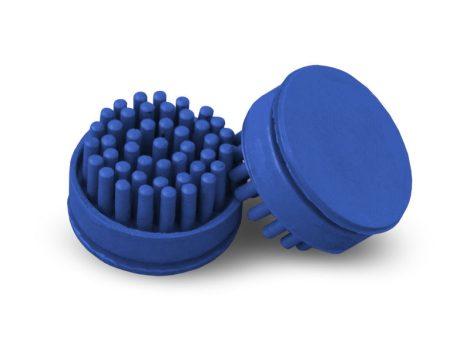 Octo Gumiszőnyeg tisztító gomb kék dísztő elem 10 db