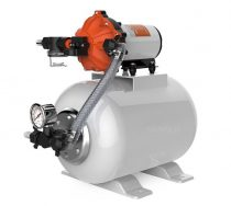 Hidrofor tartályos 12V hydrofor szivattyú házi vízmű önfelszívó membrán szivattyú 120W 690 liter/óra