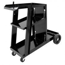 Mobil hegesztőkocsi, szerszámos kocsi 3 szintes 45 kg teherbírással önbeálló tömör gumi kerékkel