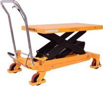 Nagy teherbírású, ollós emelő asztal 1000 kg teherbírású az aligvárom áruházban.