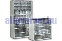 Alkatrész tároló fiókos szekrény szortimenter 30x55 cm 1 nagy 6 közepes és 30 kicsi fiók Hobby box c