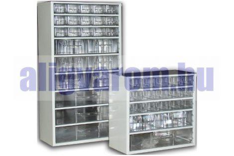 Fiókos tároló alkatrész tároló fiókos szekrény szortimenter 28x30cm, 8 közepes fiók tartó doboz