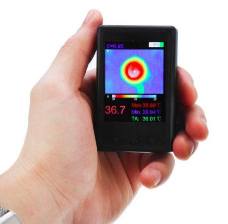 Hőkamera, mini infra kamera. Érintésmentes hőmérséklet mérés, LCD kijelsővel