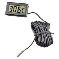 Digitális hőmérő 3 méter érzékelő kábellel, digitális hőmérséklet mérő 3 m szonda