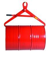 Hordóemelő daruhorgos kivitel, vízszintesen, azaz fekvő 210 literes fémhordó felemelésére 500 kg teh