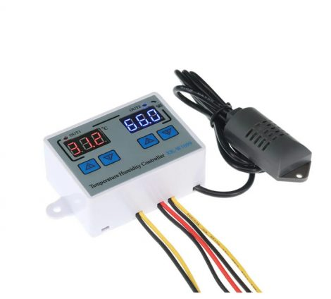 Hőmérséklet- és páratartalom-szabályozó állítható intelligens digitális kijelző, nagy pontosságú 12